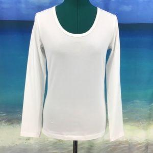 Yest Yamara Basic Cotton Jersey Long Sleeve Tee, 6